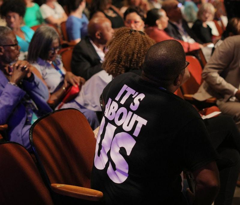 Attendees of the Black Economic Alliance Presidential Forum in Charleston, S.C., on Saturday. Travis Dove for The New York Times