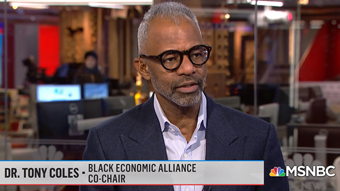 "BEA Co-Chair Tony Coles on Today's MSNBC's ""Velshi"" Show"