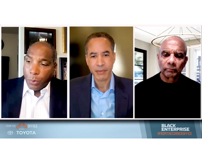 BEA Co-Chair Charles Phillips talks with Black Enterprise CEO Butch Graves and former American Express CEO Kenneth Chenault about Black Voting Access and Corporate America