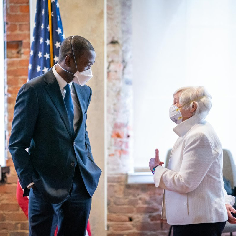 Janet L. Yellen and Wally Adeyemo